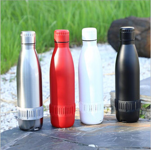 500ml Sale Bluetooth Speaker Smart Tumbler Music bowling Water Bottle With Straw Stainless Steel Music Cup Party Gift Dropshipping