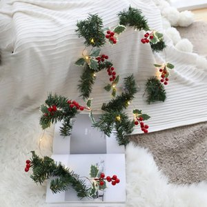DIY New Year Decoration LED String Light Pine Cone Copper Wire Fairy Warm White Garland Lights For Christmas Home Wedding Party