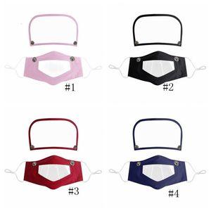 Labio 1 2 en 4style Shield cara ojo transparente mascota cubierta anti-niebla máscara clara máscara safe mute diseñador visible máscaras GGA3585- UMJA #