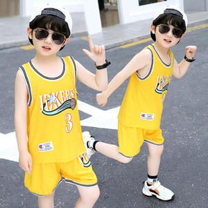Kindern Weste Shorts Set 2020 Neue Sommer Thin Jersey Jungen Sport Sleeveless Baby Basketball Shirt