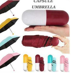 Mini Pocket Size Umbrella Foldable Windproof Rainy Sunny Umbrella Windproof Gift Rain Pocket Umbrella Rain Pocket Rain Gear HWC3810