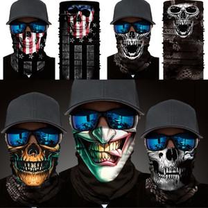 Halloween Sport Clown Skull Bandana Scarf Outdoor Cycling Neck Seamless Cover Sunscreen Protective Face Mask OWB1020