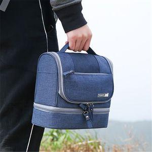 1PC Waterproof Hanging Makeup Bag Oxford Travel Organizer Cosmetic Bag For Women Necessaries Make Up Case Men Wash Toiletry Bag Z1123