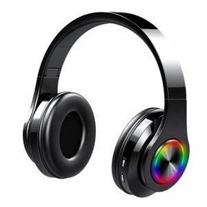 T6 Wireless Bluetooth 5.0 Headphones Foldable Head-mounted Binaural Stereo Noise Cancelling Earphone Headset With Micphone