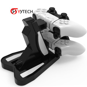 SYYTECH Free Shipping New Game Newest Gaming Dual Port Holder USB Controller Charger Charging Dock for PS5 PlayStation 5 Controller