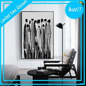 Nhdarc Modern Black White Abstract Signs Fashion Poster Painting Canvas Print Art Wall Pictures For Woonkamer Home Decor