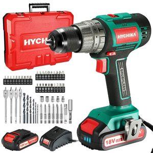 HYCHIKA 18V Driver Driver Drill 60nm Drill Hammer 3 Funciones en 1 Taladro de conductor sin escobillas 201225