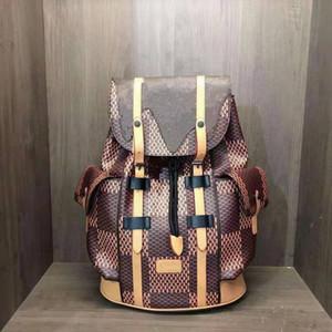 Bolsas de trekking de doble hombro del hombro de cuero Mochilas de estilo de mochila para hombres y mujeres bolsas de la escuela 2021 Mochila de alta calidad