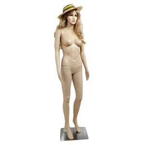 NOUVEAU Full Body Femme + Base de plastique Mannequin affichage réaliste tête tourne Robe 176