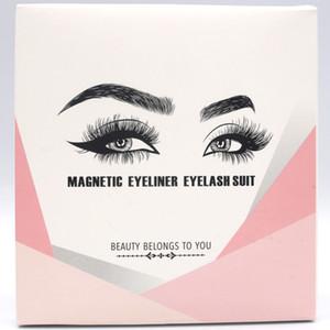 Magnetic Eyelashes with Eyeliner and Tweezer 5 Pairs Magnetic False Eyelashes Liquid Eyeliner Makeup Set Reusable eyelash No Glue Needed