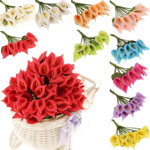 9 cm 144pcs mini artificiale calla giglio fiori fiori bouquet schiuma fiori decorativi per forniture per feste di nozze Decorazione della casa
