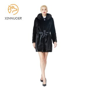 Brand new pure natural women's mink coat real leather real hair fashion high-end 2020 new