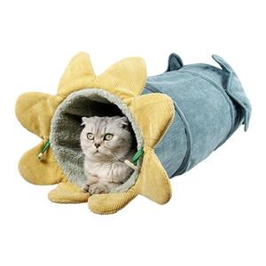 Katze Übung Verstefen Tunnel Haustier zusammenklappbar Spielzeug Indoor Outdoor Tube Kitty Winter Warme Haus