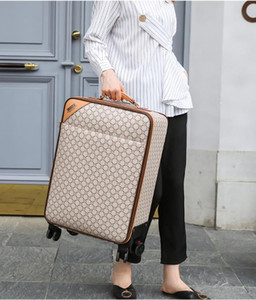 2021 Designer Women Men Suitcases Unisex Spinner Expandable Trolley Brand Fashion Luxury Designer Carry-Ons Barding Bag Rolling Luggage Sets