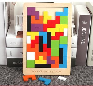 Children Wood System Russia Flexible Square Building Blocks Early Childhood Educational Jigsaw Puzzle 3-4-5-6 a Year of Age