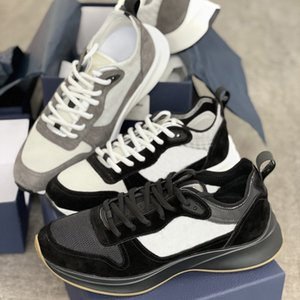 Designer Oblique B25 Sneaker Sneaker Uomo Real Pelle Corner Trainer Suede Gomma Piattaforma di gomma Scarpe Bianco Black Shoes Outdoor Shoes Top Quality with Box