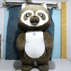 2.6M high Inflatable raccoon Mascot Costume Adult Fancy Dress Christmas Party Mascot Costume Carnival Costumes free shippin