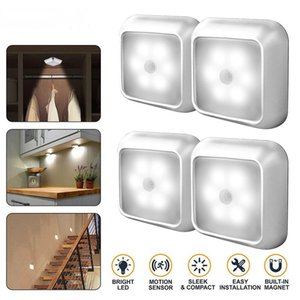 Hot Sale LED Night Light With Motion Sensor Night Light Wardrobe Cupboard Bed Lamp Closet Bulb Lighting