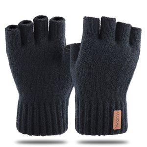 Luxury-Iwarm Half finger Women's and Men's Knitted fingerless Gloves Autumn Winter Stay Warm Mittens