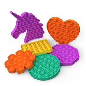 Pop Fidget Giocattolo Push Pop Pop Bubble Sensory Fidget Toy Toy Sensory Toy Silicone Squeeze per Autism Reliever Stress Party Favore CCA12663