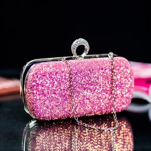 Women Glitter Prom Handbag Ladies Wedding Evening Party Clutch Bag Fashion Elegant Banquet Purse Bolso Mujer