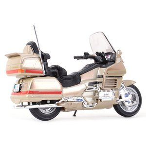 WELLY 1:18 Honda Gold Wing Die Gussfahrzeuge Kollektible Hobbies Motorrad Modell Spielzeug Y1130