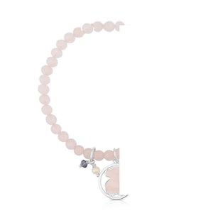 2020 100% 925 Sterling Silver Charm Fashion Quartz Powder Women's Bracelet 712161640 Pearl Purple Zircon Powder Crystal