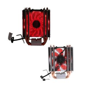 4 Heatpipe 130W Red CPU Cooler 3-Pin Fan Heatsink For Intel LGA1156 AMD AM2 754