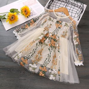 Toddler Kids Dresses for Girls Lace Cute Princess Teenage Girl Dress Floral Print Ruffle Party Clothing Winter Clothes
