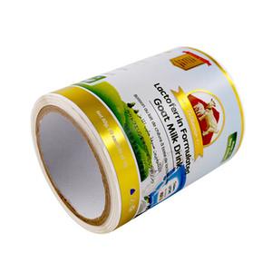 Pacote personalizado da folha do ouro etiquetas adesivos de etiquetas da prata em etiquetas da garrafa do leite da parte traseira adesivos