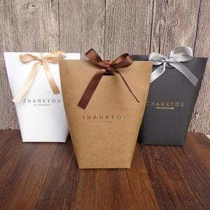 Obrigado Merci Gift Wrap Partido Birthiday casamento Gift Bag favores Bolsas Handmade item Saco dos doces da jóia gravata Embalagem dobrável Box LX403