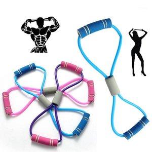 Полосы сопротивления 8 в форме эластичные резиновые петли спортивные йоги сундук упражнение эпартамент потянув ремни для тела Pilates Fitness1
