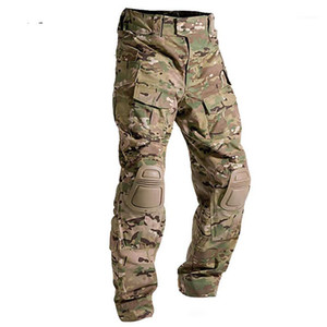 Tactical Army Swat Uniform Trouser Outdoors Hunting Hiking Frog Camouflage Combat Cargo Pants With Knee Pads1