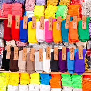 Autumn Spring Thin Thread Pile Socks Fashion Cotton Knitted Women Socks Solid Color Korean Style Cute Long Socks