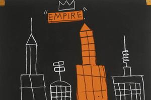 Jean Michel Basquiat Mecca Home Decor Ручная роспись живописи на холсте настенное искусство Фотографии, F201209