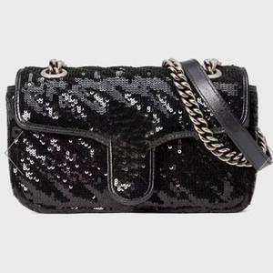 المرأة سلسلة حقيبة crossbody حقيبة يد محفظة سيدة حقائب الكتف الأزياء حبة الديكور الترتر غلق بمشبك خطاب عادي جودة عالية شحن مجاني