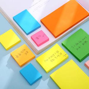 100 Sayfalar Not Kağıt Serisi Basit Katı Renk Kawaii Dergisi Kağıt Memo Pad Kendinden Yapışkanlı Okul Ofis Kırtasiye Memo DHF3153
