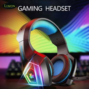 Casque de jeu casque avec microphone pour PS4 / PC Ordinateur portable Écouteurs de jeu Headphone de jeu Playsphone PlayStation respiratoire LED lumière