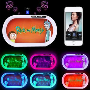 Più nuovo grande formato Bluetooth Altoparlante luminoso LED tabacco vassoio a rulli a secco Herb Social Storage Storage Stoving Holder