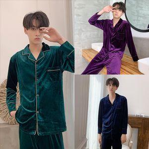 ESGP hombre túnica invierno ropa de dormir albornoz masculino largo pijamas excelente poliéster fibra pijamas camisón hombre hombre