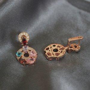 Natural Gemstones Earring Women Vintage Jewelry Woman Crystal Stud Earrings Charms Wedding Party Handmade Jewelry