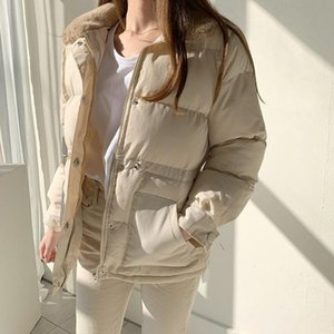Alien Kitty 2020 New Winter Women Coat Fur Collar Warm Loose Casual Solid Jacket Female Long Sleeve Outwear Elegant Tops