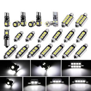 50Sets Lot Universal 23Pcs LED T10 Car Light Bulb Interior Dome License Plate Lamps Kit White For E90 E60 F10 F30