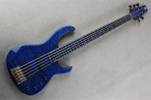 Бесплатная доставка 5 String Electric Bass гитара, пожилые модуль FB 5 Bass 2006 Flea Signature стеганый клен