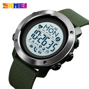 Skmei Sport Smart Men Watch Waterproof Steel Ring Bluetooth Magnetic Chargeing Electronic Compass Reloj Inteligent 1511
