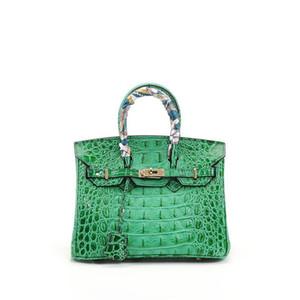 Luxurious2019 Padrão de crocodilo de osso conciso de couro genuíno de couro de couro maré portátil ma'am saco