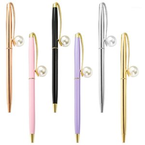 20pcs / lot Novelty cadeau bureau ballon stylo Promotion Point de balle Corporate Point de balle personnalisé logo Mécanisme Jewel Pearl Cool Pens1