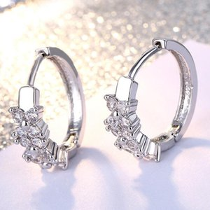 Circle Earring Clips Nice High-quality Fashion lady Rose gold cubic Zircon gold filled hoop earrings for women