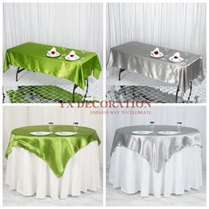 Nice Looking Seamless Satin Table Cloth Wedding Tablecloth Overlay For Banquet Event Decoration