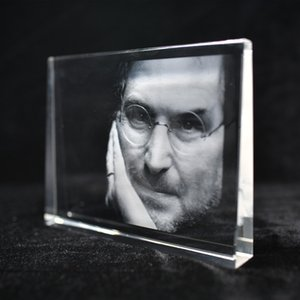 Molduras personalizadas Crystal Handmade Square Forma 3D Laser Gravado DIY Foto quadro de vidro de vidro Presentes de aniversário para decoração de casa